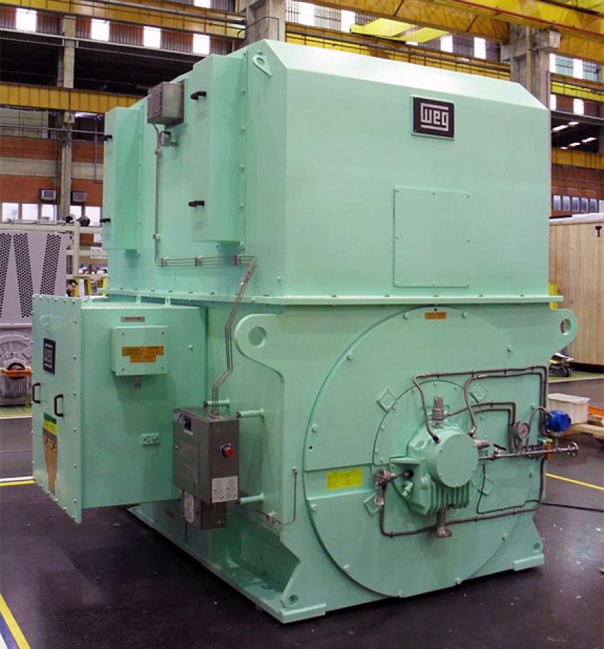 Hazardous area motor with Expo pre-ventilation system