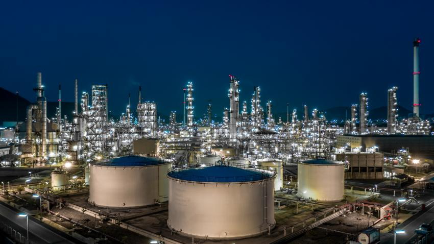 Petrochemical facility requiring specialist assessment for hazardous areas